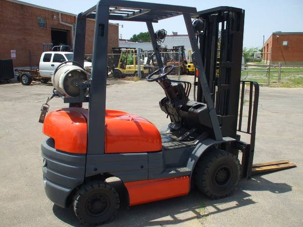 Amazing Nice Toyota 6FG15 Forklift SOLD! 3,000 Lbs. Capacity 16u0027 Triple Stage Mast  Strong Toyota LPG Engine Very Good Puncture Proof Air Tires
